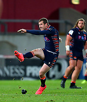 10th October 2020; Thomond Park, Limerick, Munster, Ireland; Guinness Pro 14 Rugby, Munster versus Edinburgh; Mark Bennett of Edinburgh adds three more points to the score