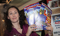 ***NO FEE PIC***.28/01/2011. Erica O' Reilly from American holidays stall as part of the USA stalls during the Holiday World Show in the RDS which runs from Friday 28th Jan - Sunday 30th Jan, Dublin..Photo: Gareth Chaney Collins