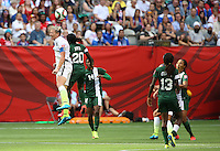 Vancouver, Canada - June 16, 2015: The USWNT defeated Nigeria 1-0 during their final group game of the FIFA Women's World Cup at BC Place.