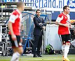 Nederland, Heerenveen, 21 mei 2015<br /> Seizoen 2014-2015<br /> SC Heerenveen-Feyenoord<br /> Giovanni van Bronckhorst bij zijn debuut als trainer van Feyenoord. Hij baalt van het doelpunt van SC Heerenveen