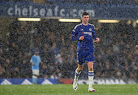 Mason Mount of Chelsea U18 as snow falls during the FA Youth Cup FINAL match between Chelsea U18 and Man City U18 at Stamford Bridge, London, England on 27 April 2016. Photo by Andy Rowland.