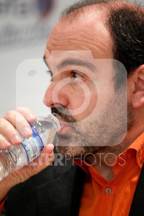 Asefa Estudiantes' new coach Trifon Poch during his oficial presentation.March 8,2012. (ALTERPHOTOS/Acero)