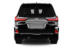 Straight rear view of 2018 Lexus LX 570 5 Door SUV Rear View  stock images