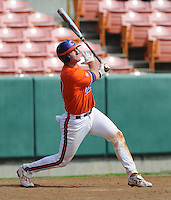 October 25, 2009: John Nester of the Clemson Tigers in an intra-squad Orange and Purple scrimmage game at the end of fall practice at Doug Kingsmore Stadium in Clemson, S.C. Photo by: Tom Priddy/Four Seam Images