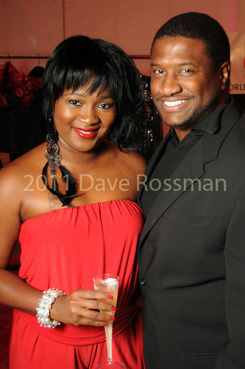 Jemila Williams and Patrick Winsey at the second night of Fashion Houston at the Wortham Theater Monday Oct. 10,2011.(Dave Rossman/For the Chronicle)