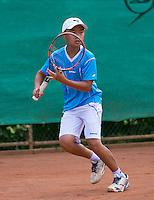 August 4, 2014, Netherlands, Dordrecht, TC Dash 35, Tennis, National Junior Championships, NJK,  Jing Long Weng (NED)<br /> Photo: Tennisimages/Henk Koster