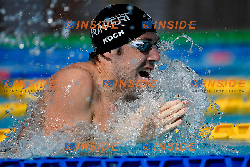 Marco Koch of Germany competes in the men 100m breaststroke during the 58th Sette Colli Trophy International Swimming Championships at Foro Italico in Rome, June 25th, 2021. Marco Koch placed fifth in his heat.
