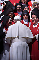 Pope Francis during of a weekly general audience at St Peter's square in Vatican. June 14, 2017