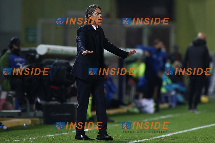 Filippo Inzaghi coach of Benevento Calcio<br /> during the Serie A football match between Benevento Calcio and Spezia Calcio at stadio Ciro Vigorito in Benevento (Italy), November 7th, 2020. <br /> Photo Cesare Purini / Insidefoto