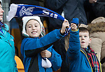 St Johnstone v Celtic…05.02.17     SPFL    McDiarmid Park<br />Young saints fans wave their scarves in support<br />Picture by Graeme Hart.<br />Copyright Perthshire Picture Agency<br />Tel: 01738 623350  Mobile: 07990 594431