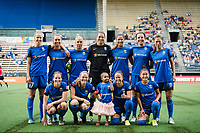 Seattle, WA - Sunday, August 13, 2017: Seattle Reign FC starting eleven during a regular season National Women's Soccer League (NWSL) match between the Seattle Reign FC and the North Carolina Courage at Memorial Stadium.