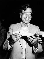 Montreal (QC) CANADA file photo - august 1985 - Robert Bourassa