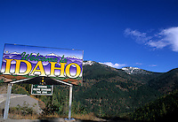 Idaho Border with Montana in the Beautiful Rocky Mountain
