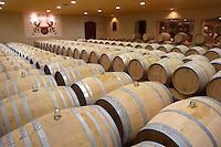 barrel aging cellar white wine chateau fieuzal pessac leognan graves bordeaux france