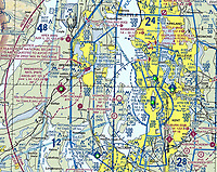 NOAA FAA VFR sectional aeronautical chart of the great Seattle, Washington metropolitan area