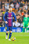 Lionel Andres Messi of FC Barcelona runs with the ball during the La Liga 2017-18 match between Valencia CF and FC Barcelona at Estadio de Mestalla on November 26 2017 in Valencia, Spain. Photo by Maria Jose Segovia Carmona / Power Sport Images