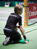 Rotterdam, The Netherlands, Februari 10, 2016,  ABNAMROWTT, Ball-Boy, Fly Emirates<br /> Photo: Tennisimages/Henk Koster
