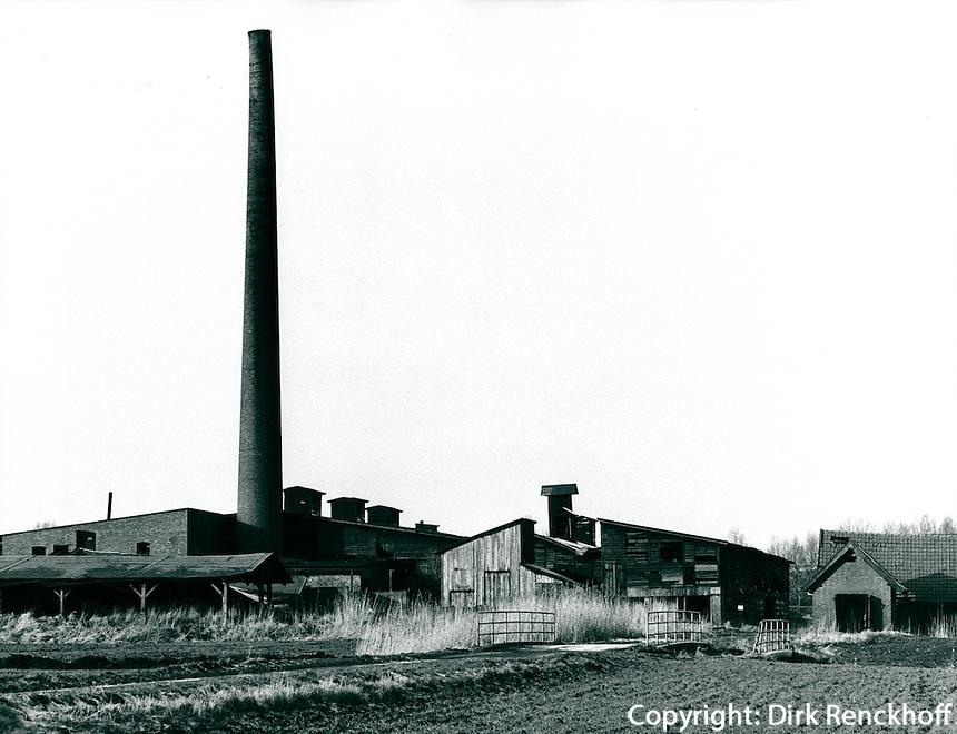 Ziegelei in Seestermühe, Schleswig-Holstein, Deutschland 1980