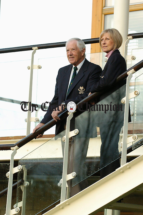 Dereck Saunders, President, and Lady Captain Elsa Walshe at Shannon Golf Club. Photograph by John Kelly.