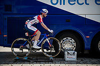 Florian Maitre (FRA/Total Direct Energie) warming up on the rollers pre-race<br /> <br /> 45th Oxyclean Classic Brugge-De Panne 2021 (ME/1.UWT)<br /> 1 day race from Bruges to De Panne (204km)<br /> <br /> ©kramon