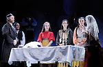 UN VIOLON SUR LE TOIT..Auteur : STEIN Joseph..Adaptateur : LAPORTE Stephane..Mise en scene : DESCHAUX Jeanne..Decor : TAPIERMAN Serge..Avec :..WILMET Alain:TEVYE le laitier..NOBLES Dominique:GOLDE la laitiere..MUNIER Amelie:TZEITEL..FILOU Charlotte:HODEL 2eme fille..CAIHOL Vanessa:CHAVA la cadette..Lieu : Le Palace..Ville : Paris..Le : 18 02 2010..© Laurent PAILLIER / photosdedanse.com..All rights reserved