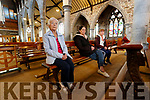 Philomena Duggan, Linda O'Sullivan and Sharon Roche, Tralee visiting Saint John's church on Monday which has reopened to parisioners after being closed during Covid-19 restrictions.