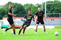 GRONINGEN - Voetbal, Eerste training selectie FC Groningen, seizoen 2021-2022, 26-06-2021, FC Groningen speler Mo El Hankouri met FC Groningen speler Daniel van Kaam