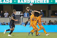 SAN JOSE, CA - JUNE 26: Florian Jungwirth #23 during a Major League Soccer (MLS) match between the San Jose Earthquakes and the Houston Dynamo on June 26, 2019 at Avaya Stadium in San Jose, California.