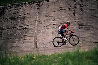 Giovanni Visconti (ITA/Bahrain-Merida) up the Passo di Sant'Antonio<br /> <br /> stage 15: Tolmezzo – Sappada (176 km)<br /> 101th Giro d'Italia 2018