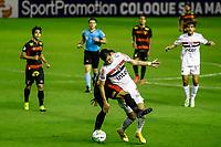 23rd August 2020; Estadio Ilha do Retiro, Recife, Pernambuco, Brazil; Brazilian Serie A, Sport Recife versus Sao Paulo; Pablo of Sao Paulo is fouled from behind