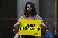 "Rome, 08/10/2020. Today, Amnesty International Italia held a flash mob (1.) in front of the Pantheon to mark 243 days of detention in an Egyptian prison of Patrick George Zaki, the postgraduate student at the University of Bologna, who has been detained in Egypt since the 7th of February 2020. From the Organisers press release (2.): «[…] 243 beats marked by a metronome wanted to represent the 243 days of unjust detention of Zaki. The demonstration was supported by: Antigone, Articolo 21, Associazione InOltre, Coalizione Italiana Libertà e Diritti Civili, Europa Now, Festival dei Diritti Umani, Focus on Africa […]». Zaki, a student of the Erasmus Mundus Master's Degree in Women and Gender Studies at the University of Bologna, also conducted research and advocacy on gender issues and human rights for the Egyptian Initiative for Personal Rights (EIPR), a human rights organization based in Cairo. He was arrested in February 2020 arriving at Cairo International Airport while he was returning home from Bologna for a short family visit, and he has since been detained on charges including ""disseminating false news"", ""inciting to protest"" and ""incitement to violence and terrorist crimes"".<br /> <br /> Footnotes & Links:<br /> 1. https://www.facebook.com/events/2715400222121392/<br /> 2. https://www.amnesty.it/patrick-zaki-iniziative-a-roma-e-milano/<br /> https://en.wikipedia.org/wiki/The_detention_of_Patrick_Zaki<br /> https://www.amnesty.it/"
