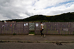 Burntisland Shipyard 0 Colville Park 7, 12/08/2017. The Recreation Ground, Scottish Cup First Preliminary Round. A fan retrieves the ball. Photo by Paul Thompson.