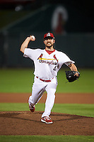 Springfield Cardinals pitcher Ronnie Shaban (47) delivers a pitch during a game against the Frisco RoughRiders  on June 3, 2015 at Hammons Field in Springfield, Missouri.  Springfield defeated Frisco 7-2.  (Mike Janes/Four Seam Images)