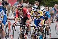 Tim Wellens (BEL/Lotto-Soudal) biting away in the finale<br /> <br /> 2017 National Championships Belgium - Elite Men - Road Race (NC)<br /> 1 Day Race: Antwerpen > Antwerpen (233km)