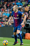 Andres Iniesta Lujan of FC Barcelona in action during the La Liga 2017-18 match between FC Barcelona and Levante UD at Camp Nou on 07 January 2018 in Barcelona, Spain. Photo by Vicens Gimenez / Power Sport Images