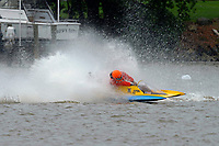 Frame 14: 300-P comes together with 911-Q, turns away and then is ejected from the boat.   (Outboard Hydroplanes)