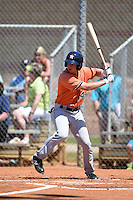 Houston Astros outfielder Brett Phillips (46) during a minor league spring training game against the Detroit Tigers on March 21, 2014 at Osceola County Complex in Kissimmee, Florida.  (Mike Janes/Four Seam Images)