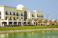 Dubai.  The club house at the Montgomerie Golf Course at Emirates Hills..