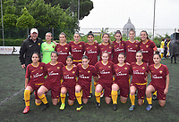 """Primavera women's team from Roma..The women's soccer team of Vatican City. 26 may 2019<br /> <br /> Women's football arrives at the Vatican, with what can be considered in all respects the women's national football team of the Holy See. The Vatican representative, announced in recent weeks, made its debut yesterday afternoon, Sunday 26 May, in the sports center of the Knights of Columbus, against the Roma women's team of Roma.<br /> The girls that make up the team are all Vatican employees or wife and daughters of staff of the Holy See, plus some players from the Bambino Gesù hospital team who joined for this 11-a-side football match. «We are born in an amateur way - he tells the attacker and captain of the Vatican Eugene Tcheugoue - and playing together represents for us above all a way to get to know and be together ».<br /> <br /> The young soccer player, a graduate in theology and a native of Cameroon, has no doubts about the great important symbolism of the team: """"Many of us are mothers even before they are employees or at least daughters and wives, so in the first place for us is the metaphor of football as a gym of life. Sport in general - says Eugene Tcheugoue - conveys a fundamental message, both for the new generations and in particular for women """"."""