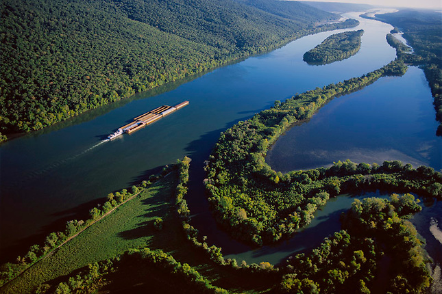 Barge on Tennessee River