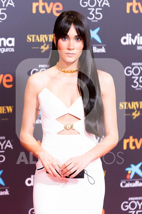 Singer Aitana attends the red carpet previous to Goya Awards 2021 Gala in Malaga . March 06, 2021. (Alterphotos/Francis González)