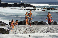 auf der Insel Faial, Azoren, ehemaliger Hafen von FeteiraPortugal