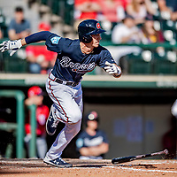 25 February 2019: Atlanta Braves outfielder Drew Waters at bat during a pre-season Spring Training game against the Washington Nationals at Champion Stadium in the ESPN Wide World of Sports Complex in Kissimmee, Florida. The Braves defeated the Nationals 9-4 in Grapefruit League play in what will be their last season at the Disney / ESPN Wide World of Sports complex. Mandatory Credit: Ed Wolfstein Photo *** RAW (NEF) Image File Available ***