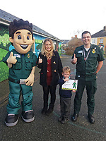 "Pictured: Jess Austin (2nd L) with son Beau and Ashley Page, the operator who took the call.<br /> Re: A four year old boy from Pembrokeshire who called for an ambulance using Siri when his mum became unwell has been praised for his actions.<br /> Brave Beau Austin asked Siri via an iPhone to dial 999 when his mum Jess, who is in the first trimester of her pregnancy, fainted through experiencing side effects of her morning sickness medication.<br /> Beau spoke to Ashley Page, a 999 Emergency Medical Services call taker at Welsh Ambulance Service, who quickly identified Beau was on his own with his mum and adapted a more child-friendly style and technique to obtain Beau's home address.<br /> Although Jess recovered briefly to confirm her full address and answer some questions, she fainted a second time and the ambulance service again called on Beau for his help.<br /> Ashley encouraged Beau to call his mum and try and get her to respond, and she came around a second time and spoke to Ashley. While they waited for help to arrive, they discovered that Beau had contacted 999 using Siri, a virtual personal assistant found on Apple phones.<br /> Ashley said: ""We frequently take calls from children and younger people, but I think this is the first time I've heard of a four-year-old using Siri to contact us. I didn't even know you could do that! It's great that voice technology can be used in this way.<br /> ""As call handlers we are trained to talk to callers through potential emergencies, and it was Beau's knowledge of technology, awareness of his address and staying calm that really made a difference and helped his mum and us.""<br /> Mum Jess said: """"It was just me and Beau in the house by ourselves so he did really, really well. To use Siri like that is incredible. I didn't even know you could do that on a phone. He's often having conversations with Siri but this was so clever.<br /> ""Both dad and I are extremely proud of Beau. We are so impressed by what he did, the way he handled himself and the impo"