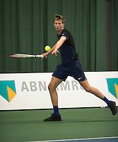 Rotterdam, Netherlands, Januari 28, 2017, ABNAMROWTT, Clubkampioenen, Oskar Knotschke/Rutger Dekker<br /> Photo: Tennisimages/Henk Koster