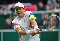 02-02-14,Czech Republic, Ostrava, Cez Arena, Davis Cup Czech Republic vs Netherlands, ,    Tomas Berdych (CZE)<br /> Photo: Henk Koster