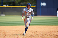Detroit Tigers Will Maddox (29) rounds the bases after hitting a home run during a minor league Spring Training game against the New York Yankees on March 22, 2017 at the Yankees Complex in Tampa, Florida.  (Mike Janes/Four Seam Images)