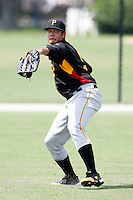 July 13, 2009:  Left Fielder Rogelios Noris of the GCL Pirates during a game at Tiger Town in Lakeland, FL.  The GCL Pirates are the Gulf Coast Rookie League affiliate of the Pittsburgh Pirates.  Photo By Mike Janes/Four Seam Images