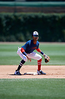 Werner Blakely (1) during the Under Armour All-America Game, powered by Baseball Factory, on July 22, 2019 at Wrigley Field in Chicago, Illinois.  Werner Blakely attends Detroit Edison Academy in Detroit, Michigan and is committed to Auburn University.  (Mike Janes/Four Seam Images)