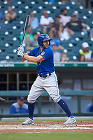 Kevin Padlo (15) of the Durham Bulls at bat against the Charlotte Knights at BB&T BallPark on July 31, 2019 in Charlotte, North Carolina. The Knights defeated the Bulls 9-6. (Brian Westerholt/Four Seam Images)
